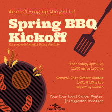 Spring BBQ Kickoff Poster - Central Care Cancer Center - Emporia