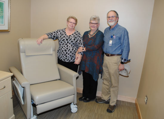 Sherry Barnhart with Pam and Dr. Greg Nanney.