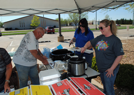 Relay For Life Barbecue event at Central Care Cancer Center.